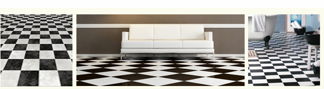 checkered vinyl flooring image